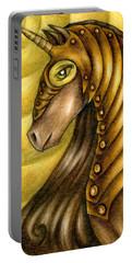 Golden Unicorn Warrior Art Portable Battery Charger