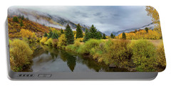 Portable Battery Charger featuring the photograph Golden Valley by Tim Stanley