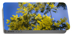 Portable Battery Charger featuring the photograph Golden Wattle by Angela DeFrias