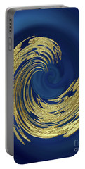 Golden Wave Abstract Portable Battery Charger