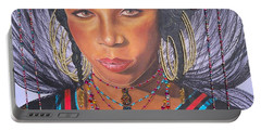 Golden Wodaabe Girl Portable Battery Charger