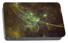 Portable Battery Charger featuring the digital art Golden Years by Jeff Iverson