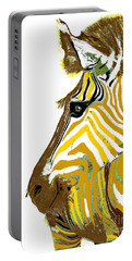 Golden Zebra Portable Battery Charger by Saundra Myles