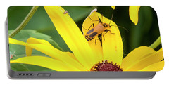 Portable Battery Charger featuring the photograph Goldenrod Soldier Beetle by Ricky L Jones