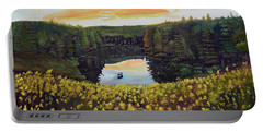 Goldenrods On Davenport Lake-ellijay, Ga  Portable Battery Charger by Jan Dappen