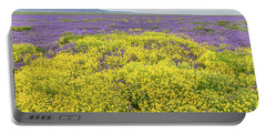 Portable Battery Charger featuring the photograph Goldfield And Phacelia by Marc Crumpler