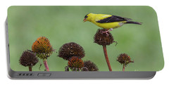Goldfinch And Coneflowers Portable Battery Charger