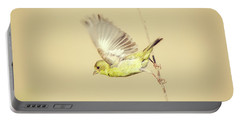 Goldfinch Flying Off  Portable Battery Charger