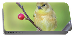 Goldfinch In The Backyard Portable Battery Charger