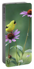 Goldfinch On A Coneflower Portable Battery Charger