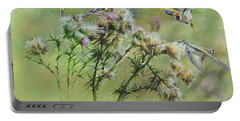 Goldfinches On Thistle Portable Battery Charger