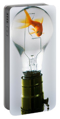 Goldfish In Light Bulb  Portable Battery Charger