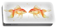 Goldfish Love Watercolor Portable Battery Charger