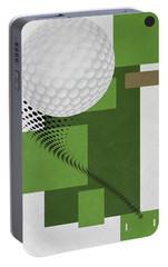 Golf Art Par 4 Portable Battery Charger by Joe Hamilton