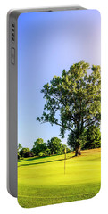 Portable Battery Charger featuring the photograph Golf Course by Alexey Stiop