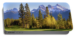 Golf Course In The Mountains Portable Battery Charger by Keith Boone