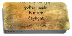 Golf Quote Portable Battery Charger