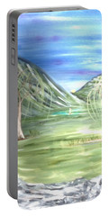Golfing In Glacier Portable Battery Charger