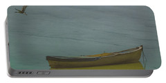 Portable Battery Charger featuring the photograph Golyazi, Turkey - Rowboat And Crane by Mark Forte