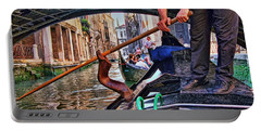 Portable Battery Charger featuring the photograph Gondola 2 by Allen Beatty