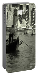 Gondolier In Venice   Portable Battery Charger