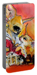 Gone With The Wind Chihuahuas Caricature Art Print Portable Battery Charger