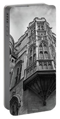 Portable Battery Charger featuring the photograph Gonville And Caius College Library Cambridge In Black And White by Gill Billington
