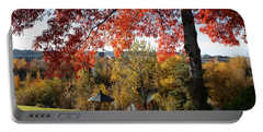 Gonzaga With Autumn Tree Canopy Portable Battery Charger