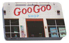 Portable Battery Charger featuring the photograph Goo Goo Shop- Photography By Linda Woods by Linda Woods