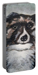 Portable Battery Charger featuring the painting Good Dog By Christine Lites by Allen Sheffield