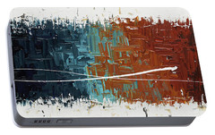 Portable Battery Charger featuring the painting Good Feeling - Abstract Art by Carmen Guedez
