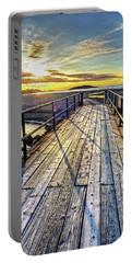 Good Harbor Beach Footbridge Shadows Portable Battery Charger