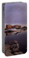 Portable Battery Charger featuring the photograph Good Morning Harbor by Joel Witmeyer