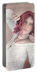 Portable Battery Charger featuring the digital art Good Morning by Jutta Maria Pusl
