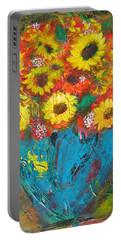 Good Morning Sunshine Portable Battery Charger by Maria Watt