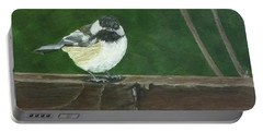 Portable Battery Charger featuring the painting Good Morning by Wendy Shoults
