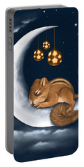 Portable Battery Charger featuring the painting Good Night by Veronica Minozzi