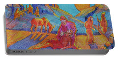 Good Samaritan Parable Painting Bertram Poole Portable Battery Charger