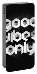 Good Vibes Only Quote Portable Battery Charger