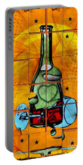 Portable Battery Charger featuring the digital art Good Wine By Nico Bielow by Nico Bielow