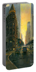 Gooderham Sunset Portable Battery Charger by Michael Swanson