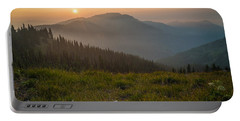 Goodnight Mountains Portable Battery Charger by Kristopher Schoenleber