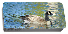 Portable Battery Charger featuring the photograph Goose And Sun Reflections by David Lawson