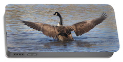 Goose Flapping Wings-rear View Portable Battery Charger