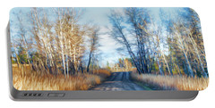 Portable Battery Charger featuring the photograph Goose Lake Road by Theresa Tahara