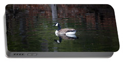 Goose On A Pond Portable Battery Charger by Jeff Severson