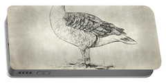 Goose Quote By Lao Tzu Portable Battery Charger