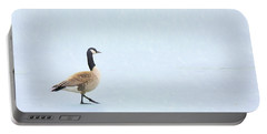 Portable Battery Charger featuring the photograph Goose Step by Nikolyn McDonald