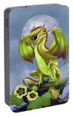 Portable Battery Charger featuring the digital art Gooseberry Dragon by Stanley Morrison