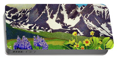 Gore Range Wildflowers Portable Battery Charger